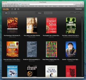 Kindle Cloud Reader library view