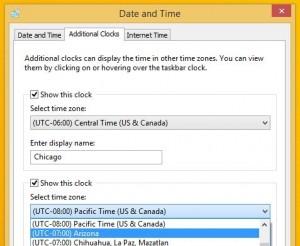 Windows world clock settings