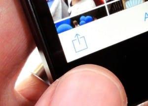 iOS Share button in Photos app