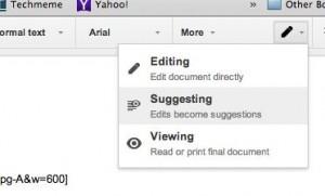 Google Docs Suggesting option