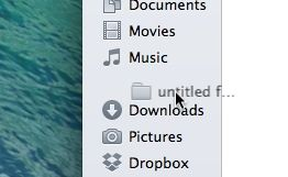 Move an item in the Mac sidebar