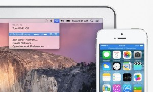 OS X Yosemite Instant Hotspot