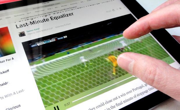 iPad tip: Expand and shrink web videos by pinching (rather than tapping)