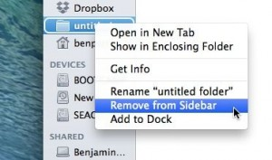 Remove a folder from the Mac sidebar