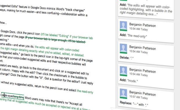 "Google Docs tip: Track changes with new ""Suggested Edits"" feature"