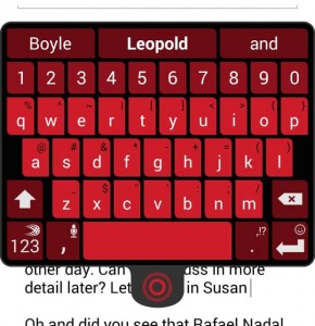 SwiftKey for Android floating keypad
