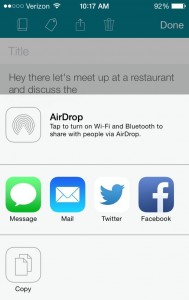 SwiftKey for iOS sharing options