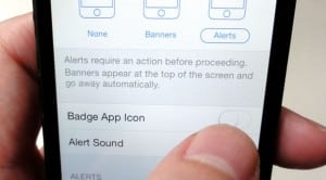 iOS 7 badge notification setting