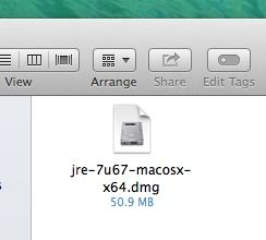 DMG file in Mac Finder window