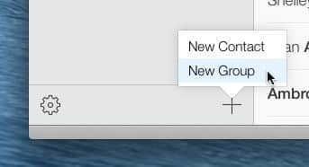 Creating a new contact group on iCloud