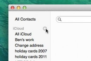 Creating contact groups on a Mac