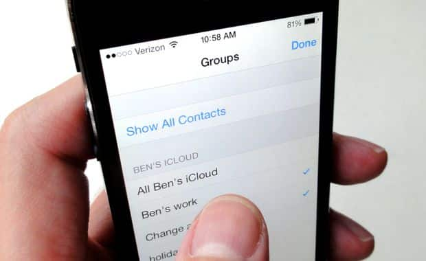 "iOS 7 tip: Can you create your own ""Groups"" in the Contacts app?"