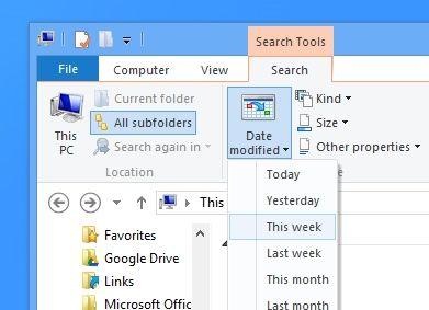 Windows 8 Saved Search