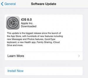 iOS Software Update settings