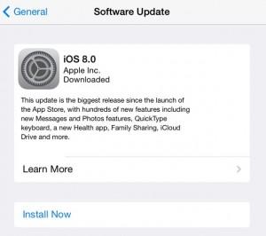 iOS Software Update settings