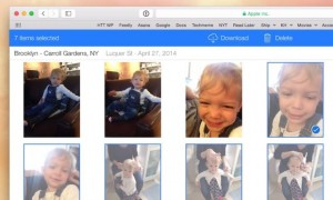 iCloud Photo Library download button