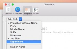 Change default labels in Mac Contacts app