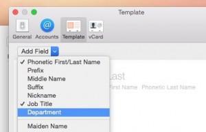 Change default labels in Mac Contacts app