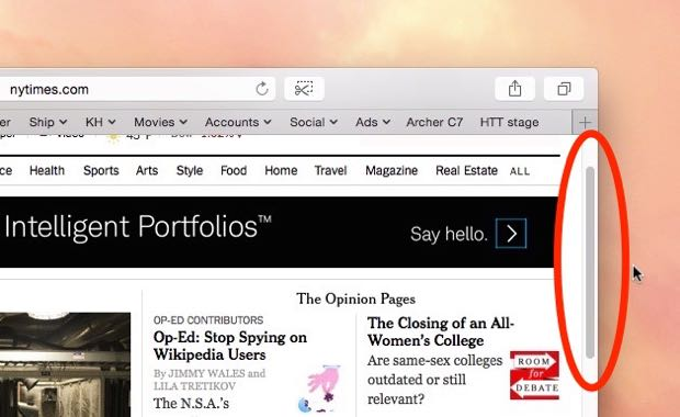 Mac tip: Miss the Mac's scroll bars? Here's how to get them back