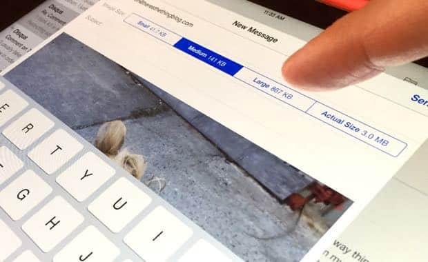 iPad tip: Change the size of a photo before emailing it