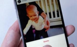 Delete an Instagram photo