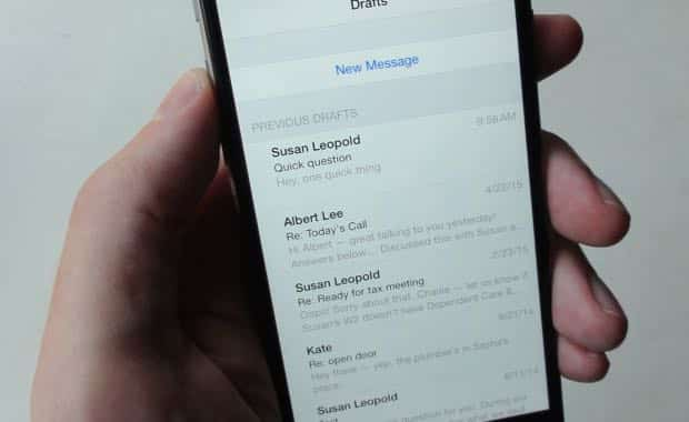 iOS tip: Looking for your draft Mail messages? Here's a shortcut
