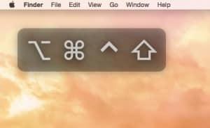 sticky keys - Sticky keys on a Mac