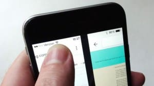 Chrome gestures -Chrome for iOS swipe to switch tabs