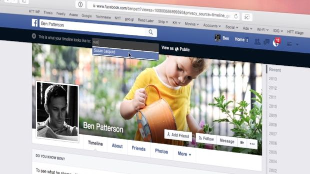 Facebook tip: View your timeline as strangers see it