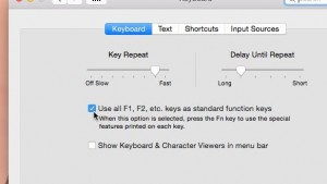 Mac function keys setting