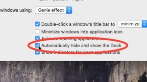 Mac hide the desktop dock setting
