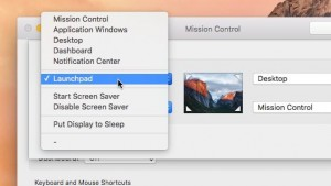 Mac Hot Corners settings