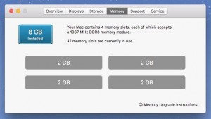 memory upgrade - About This Mac Memory details
