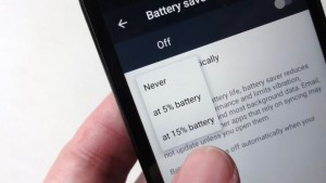 battery saver - Android Battery saver settings
