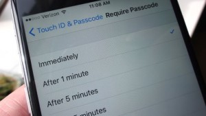 locked iPhone - iOS require passcode setting