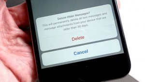 delete old text messages - Keep Messages setting warning