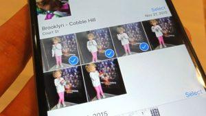photo albums - Select photos to add to an iOS album