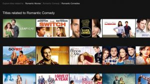 netflix account - Netflix search for Romantic Comedy