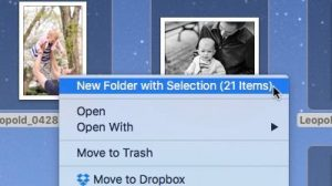 new folder - New Folder with Selection option for Mac