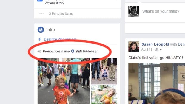 Facebook tip: Teach people how to pronounce your name