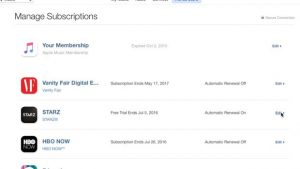 iTunes Store subscription page