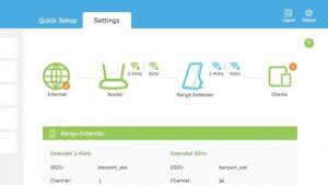 weak wi-fi signal - Wi-Fi extender status panel