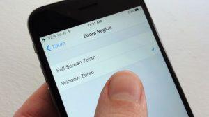 magnifying glass - iOS Window Zoom setting