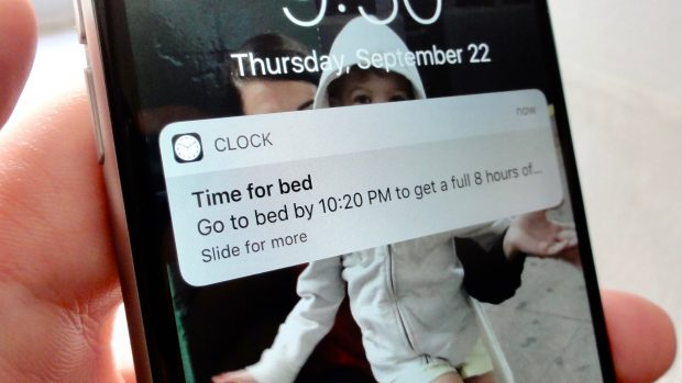 "iOS 10 tip: New ""Bedtime"" feature reminds you when to hit the hay"