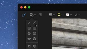 photo app for Mac - Arrow button in Markup for Mac Photos app