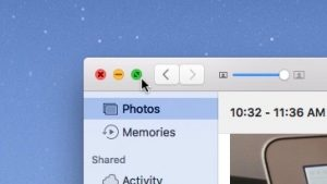 Click the green button to make a Mac window go to full-screen mode.