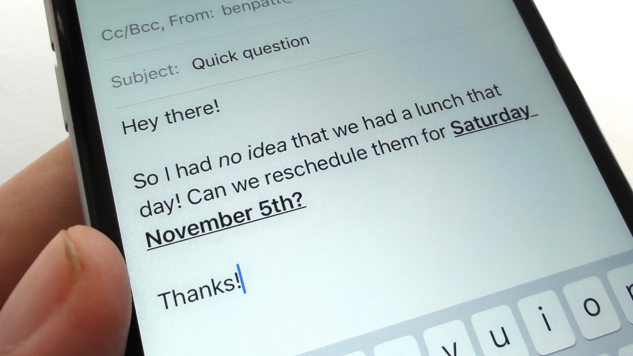 iOS tip: How to bold, italicize or underline text in the Mail app