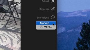 photo app for Mac - Markup button in the Mac Photos app