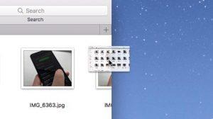 Drag a Mac folder tab into a new window