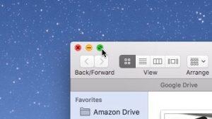 Mac full-screen folder window